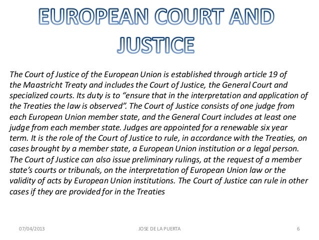 the role of the european court of justice in the european union policy-making essay The role of the european court of justice in the european union policy-making essay sample.