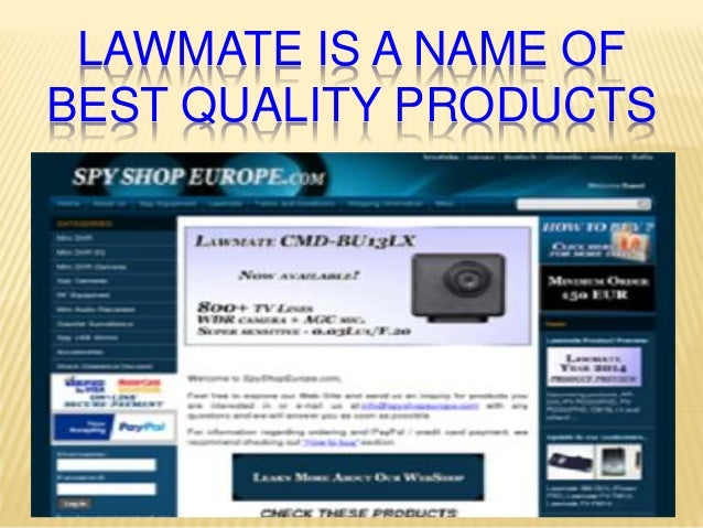 LAWMATE IS A NAME OF BEST QUALITY PRODUCTS