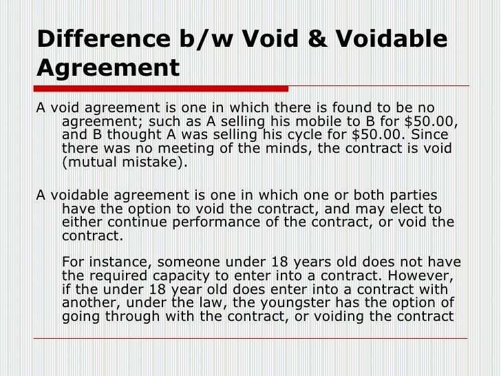 Void Agreements Essay Service