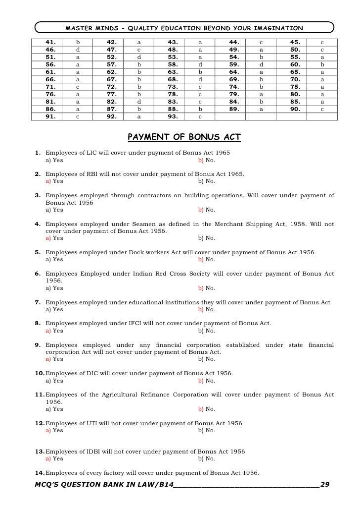 Law MCQs