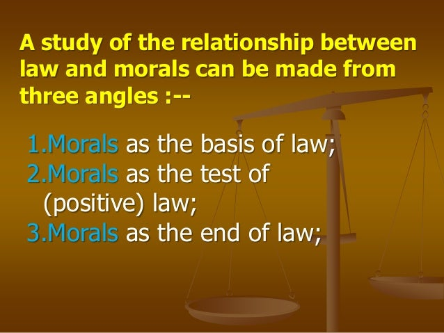relationship between conscience and moral law