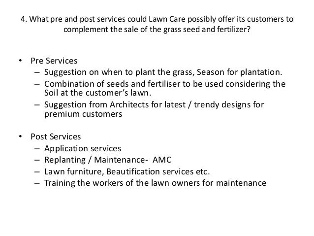 lawn care case From business: trugreen is the nation's largest and most comprehensive provider of lawn care services served over 2 million customers through over 300 branches located througho.