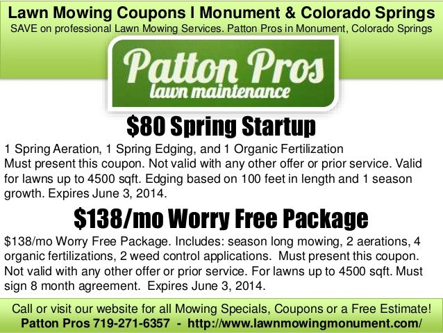 Oil Change Coupons Colorado Springs >> Lawn Mowing Coupons L Monument Colorado Springs Co