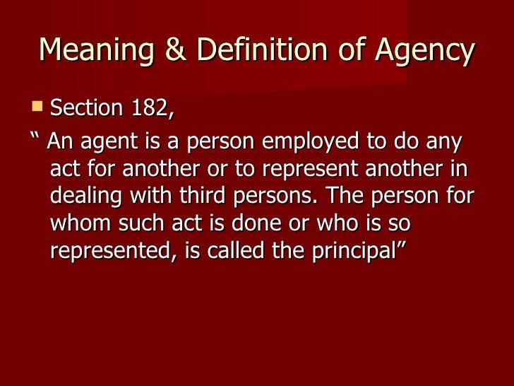 Law of agency for Bureau definition