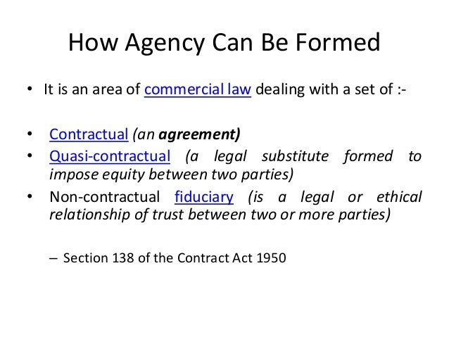 an agent is authorized to act on behalf of a principal in doing business with third parties A party may be authorized to act on behalf of or in relationship to another in various ways:  by the agent with third parties, and when defining the course and.