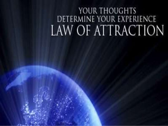The law of attraction is actually a name that was given to a belief concerning mostly thoughts. Whatever is running in you...