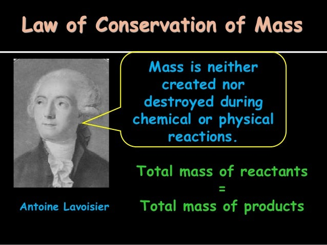 Law of conservation of mass 1