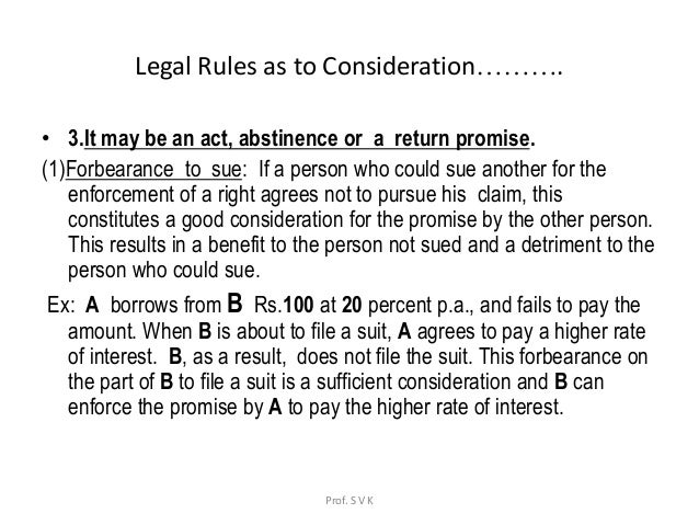 consideration business law Consideration n 1) payment or money 2) a vital element in the law of contracts, consideration is a benefit which must be bargained for between the parties, and is the essential reason for a party entering into a contract.