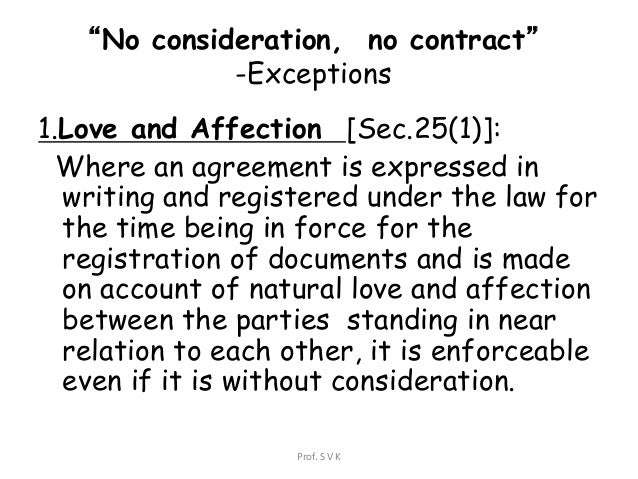 Law of consideration- business law