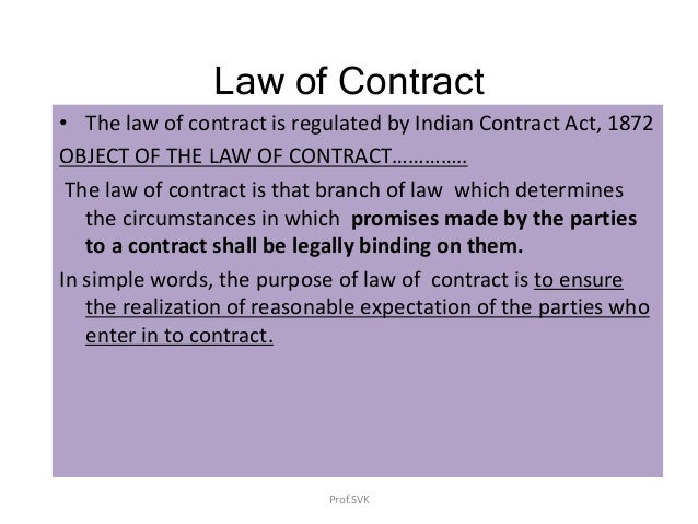 Law of contract - Business Law Slide 2