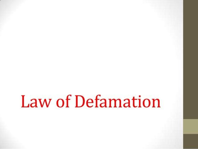 Law of Defamation