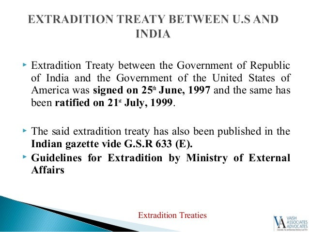 15.  Extradition ...