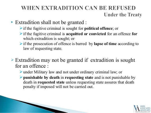 Law of Extradition in India