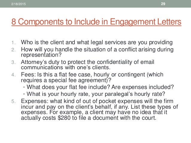 Law office management for paralegals 29 8 components to include in engagement letters spiritdancerdesigns Choice Image