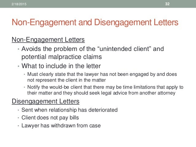 Law office management for paralegals non engagement and disengagement letters spiritdancerdesigns Choice Image