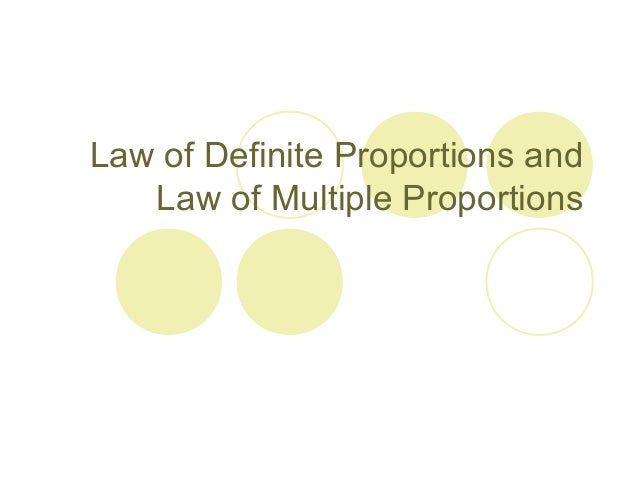 Law of multiple proportions and law of definite proportions – Law of Definite and Multiple Proportions Worksheet