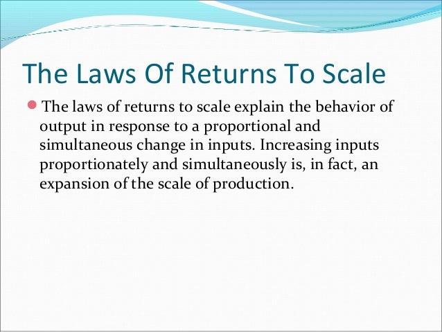 explain returns to scale