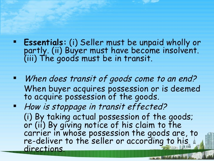 law of sale of goods pdf