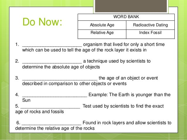 Dating Rocks and Fossils Using Geologic Methods