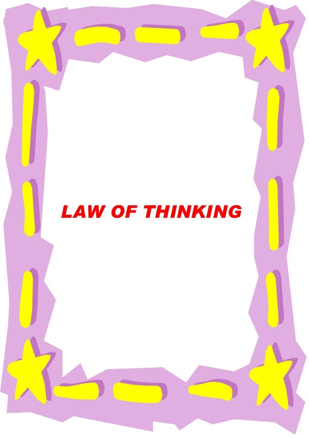LAW OF THINKING