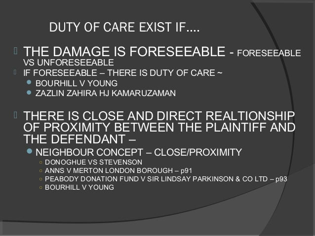 duty of care law essay Most people would acknowledge the importance of the duty of loyalty, but the same is not true of the duty of care historically, the corporate law duty of care has been underenforced at best, and arguably unenforced entirely some scholars do not consider the duty of care to be a fiduciary duty at.