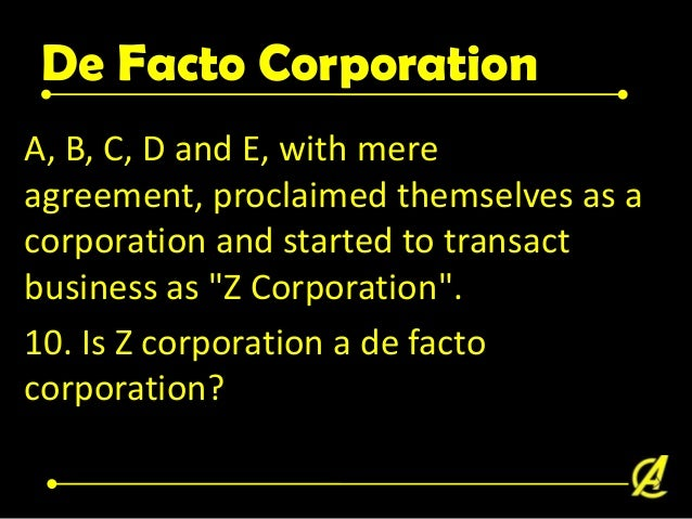 De Facto Corporation A, B, C, D and E filed on June 1, 2006 Articles of Incorporation of S'acto corporation with the SEC. ...