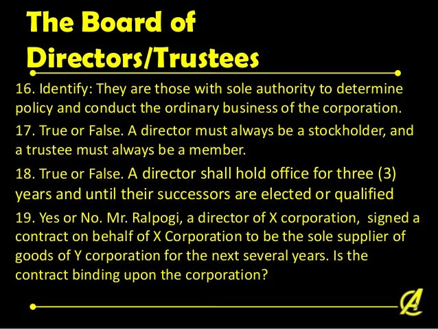 Voting 20. A owns 100 shares. The number of directors to be voted on are 5. If he wishes to vote for 5 candidates equally,...