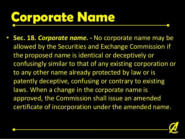 De Facto Corporation Requisities of a de facto corporation A. There must be a valid law under which a corporation might in...