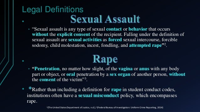 Sexual assaul definition