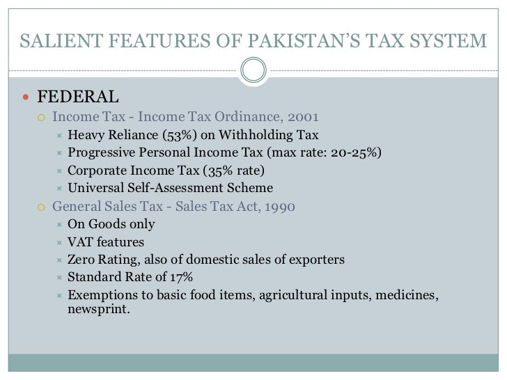 taxation system in pakistan Taxation convention with pakistan convention signed at washington  july 1, 1957 ratification advised by the senate of the united states of america.