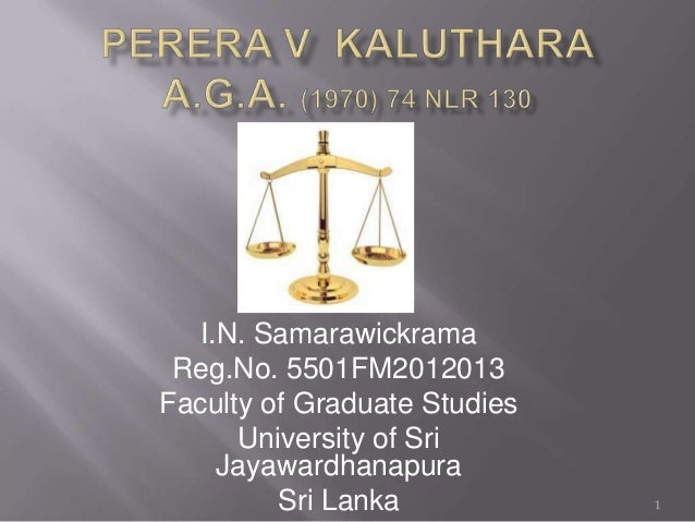 I.N. Samarawickrama Reg.No. 5501FM2012013 Faculty of Graduate Studies University of Sri Jayawardhanapura Sri Lanka 1