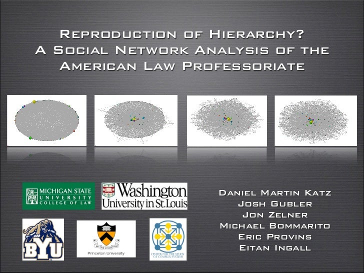 Reproduction of Hierarchy?A Social Network Analysis of the   American Law Professoriate                   Daniel Martin Ka...