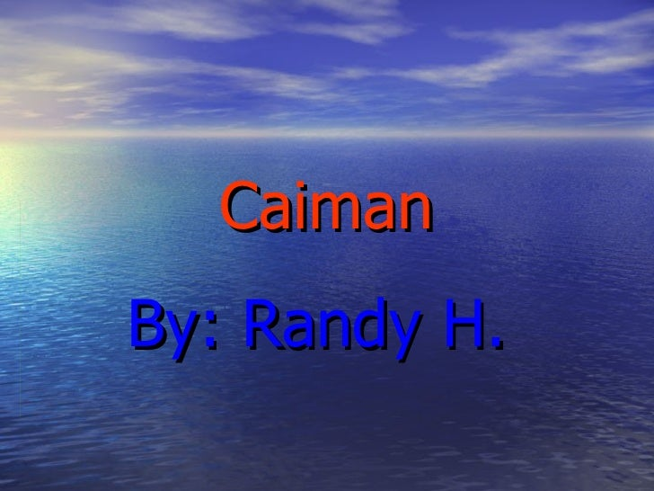 Caiman By: Randy H.