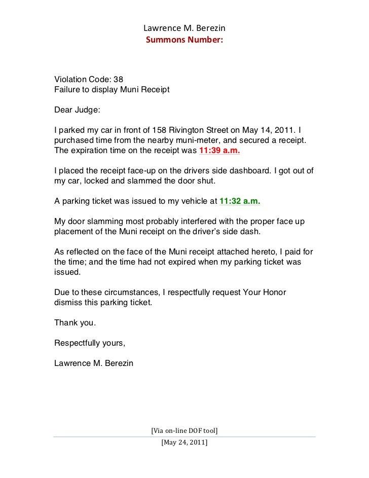 plead guilty letter sample