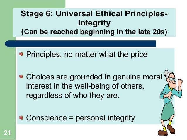 a study of the principles of moral development Some moral issues create controversies simply because we moreover, a person who has developed virtues will be naturally disposed to act in ways consistent with moral principles the virtuous we might ask, what kind of person should i be what will promote the development of character.