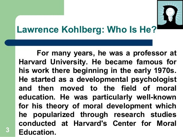 kohlbergs theory essay This is a very nice overview of kohlberg's theory very comprehensive and accurate you have some very good sources, and i think it would help to use those sources in the text.