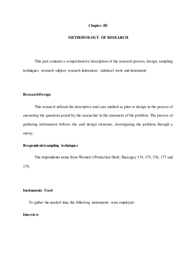 sample of subject and respondents for thesis Chapter 3 - methodology (phd thesis methodology (phd thesis the sample size of 477 respondents was deemed to be sufficient for an explorative survey and.