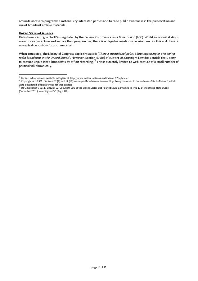 page11of25 accurateaccesstoprogrammematerialsbyinterestedpartiesandtoraisepublicawarenessinthepreservat...