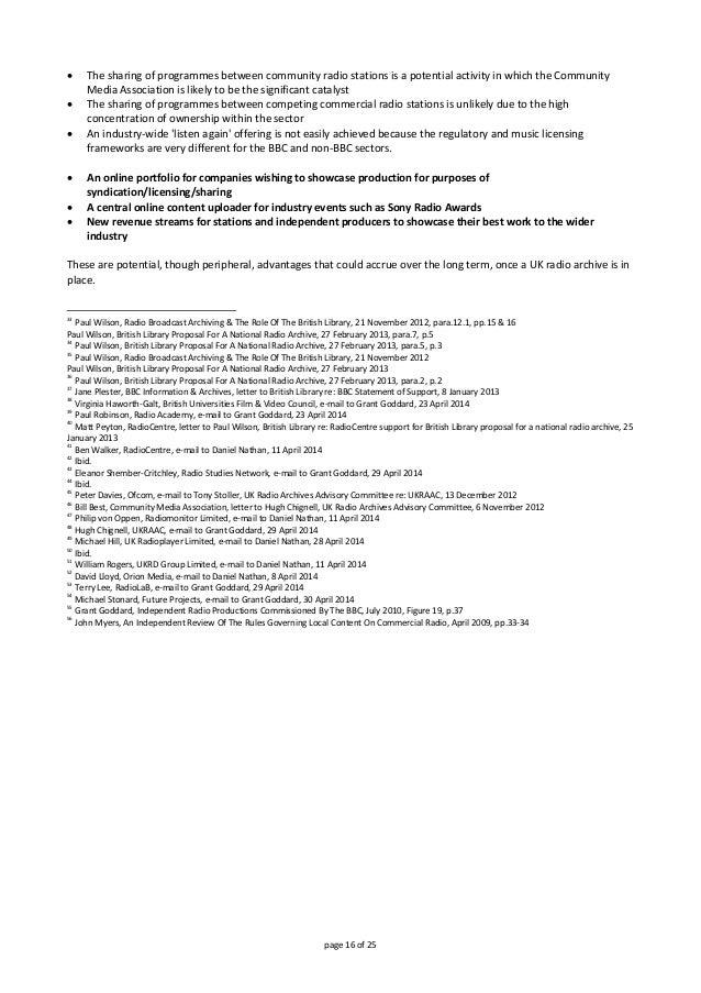 page16of25  ThesharingofprogrammesbetweencommunityradiostationsisapotentialactivityinwhichtheCommunity...