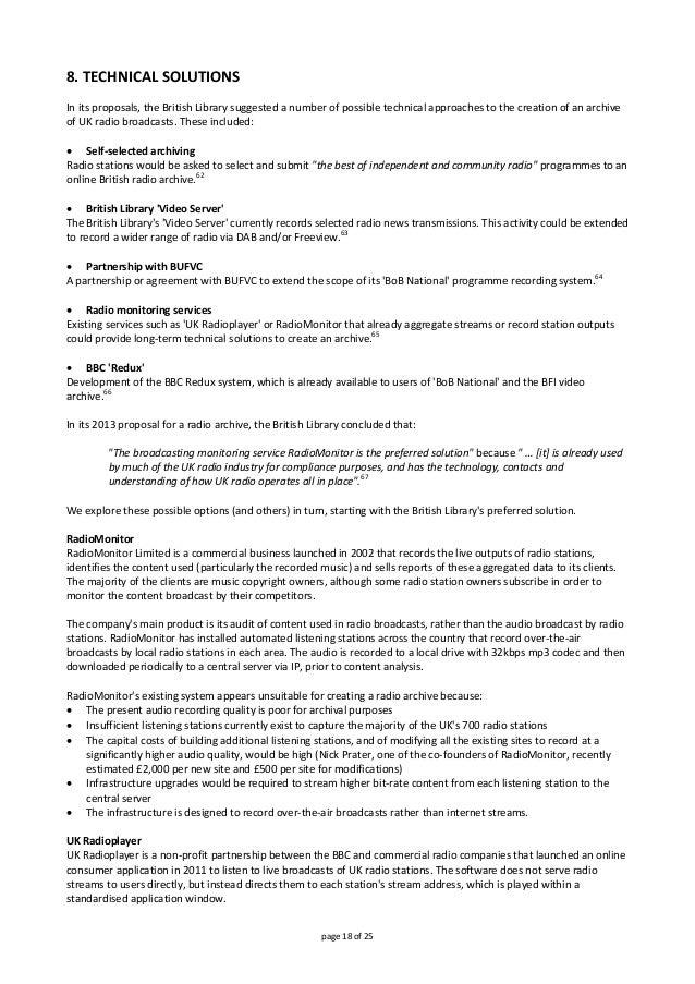 8.TECHNICALSOLUTIONS  Initsproposals,theBritishLibrarysuggestedanumberofpossibletechnicalapproachestothe...