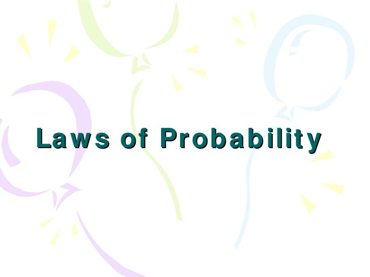 Laws of Probability
