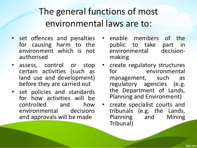 Environmental law essay topics