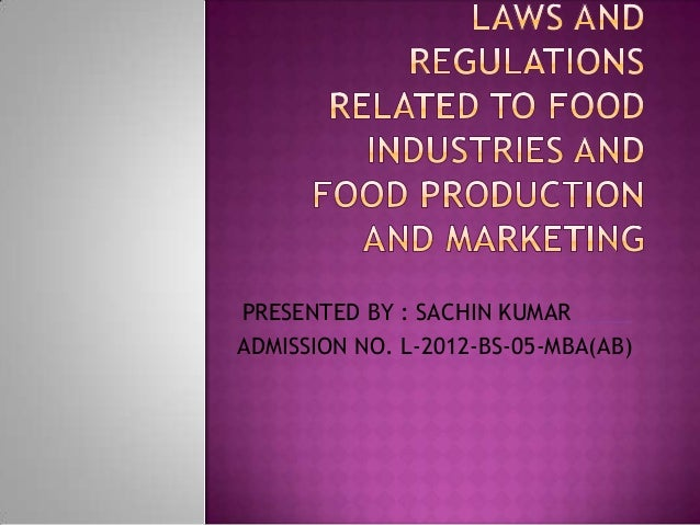 the food industry and self regulation standards Marketing food to children and adolescents a review of industry expenditures, activities, and self-regulation july 2008 federal trade commission william e kovacic, chairman.