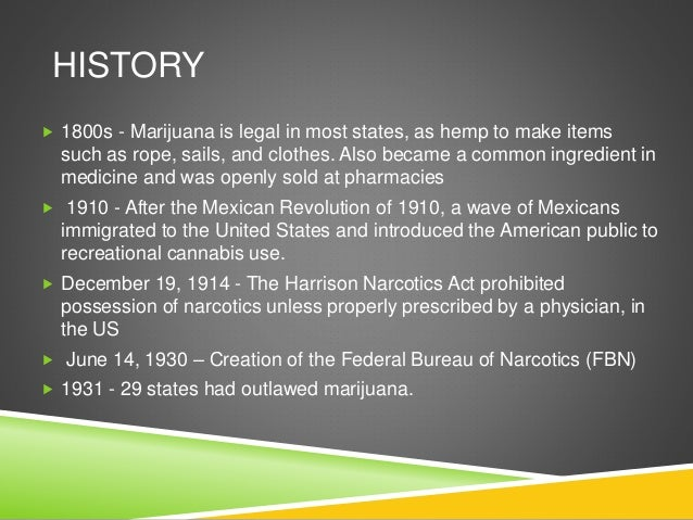An analysis of the legislation of marijuana and the consumption of hemp in the untied states