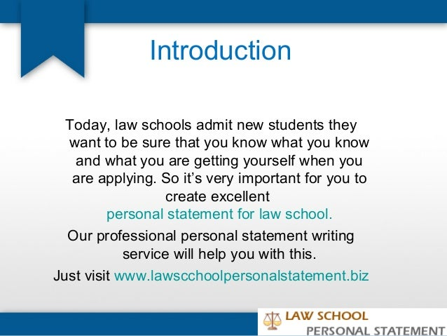 Law School Personal Statements Advice