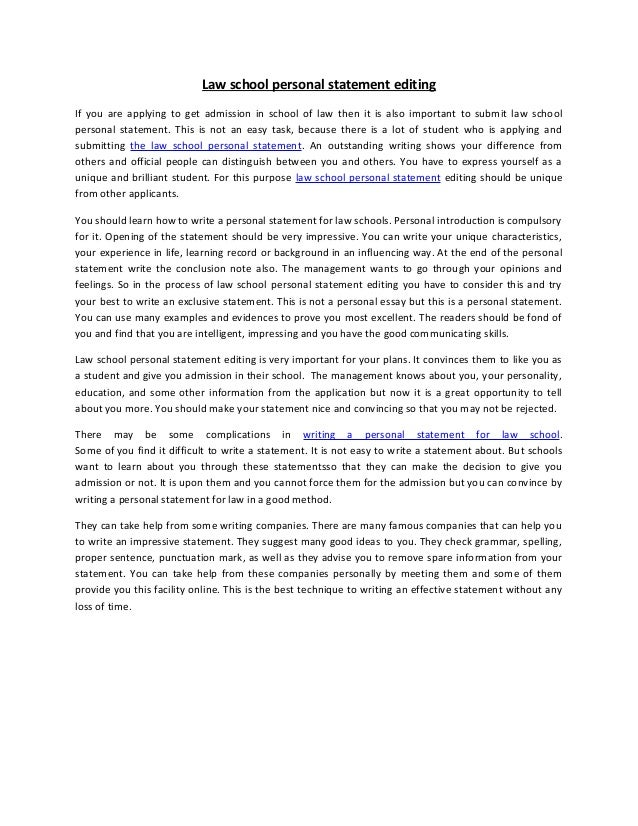 Personal Statement Letter   This handout provides information