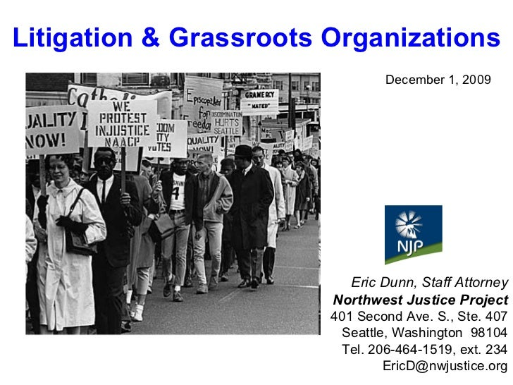December 1, 2009 Eric Dunn, Staff Attorney Northwest Justice Project 401 Second Ave. S., Ste. 407 Seattle, Washington  981...