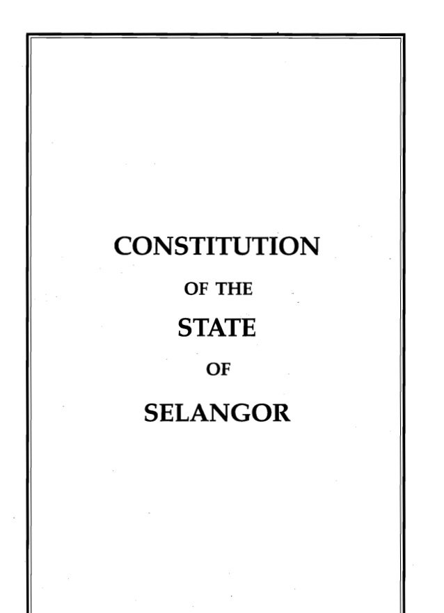 Constitution of the State of Selangor 1959