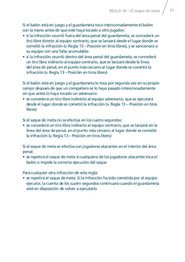 Reglas futsal 2014 15 for Regla del fuera de lugar
