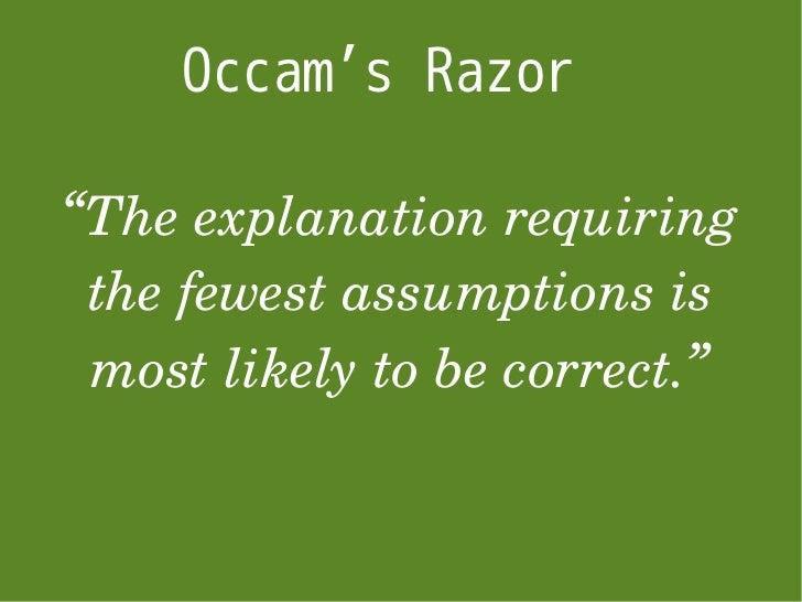 Image result for occam's razor